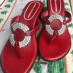 Adorable red fancy sandals